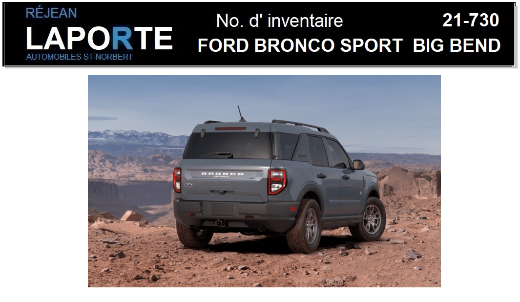 Ford Bronco Sport 2021 Front right profile