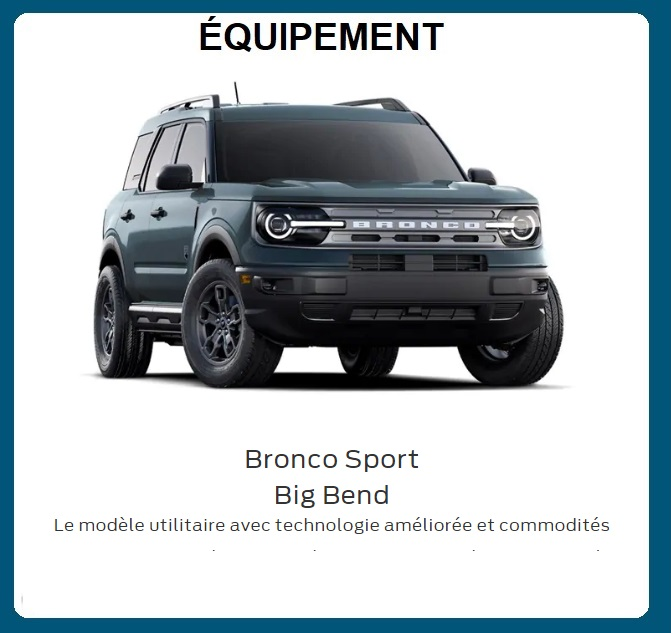 Ford Bronco Sport 2021 Front